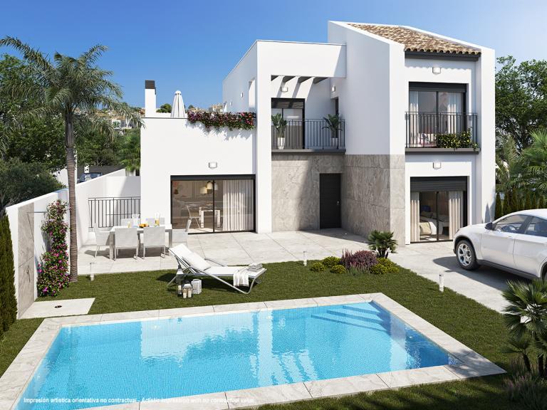 Stunning mediterranean style new 3 bedroom villa in Nieuwbouw Costa Blanca