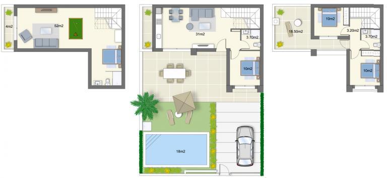 Stunning mediterranean style new 3 bedroom villa Nieuwbouw Costa Blanca
