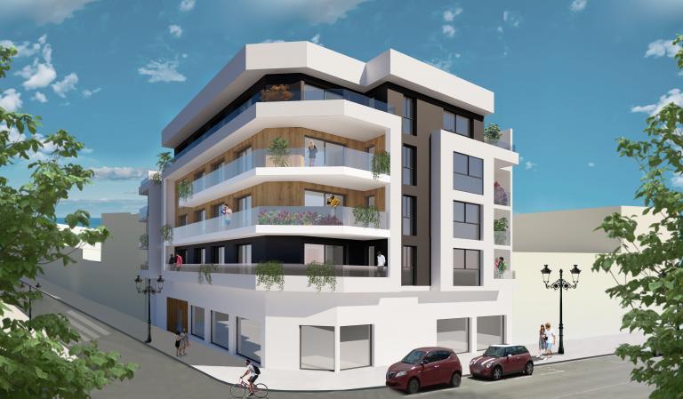 3 Bedroom 2 bathroom new apartement centre Guardamar in Nieuwbouw Costa Blanca