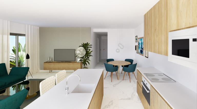 3 Bedroom 2 bathroom new apartement centre Guardamar Nieuwbouw Costa Blanca