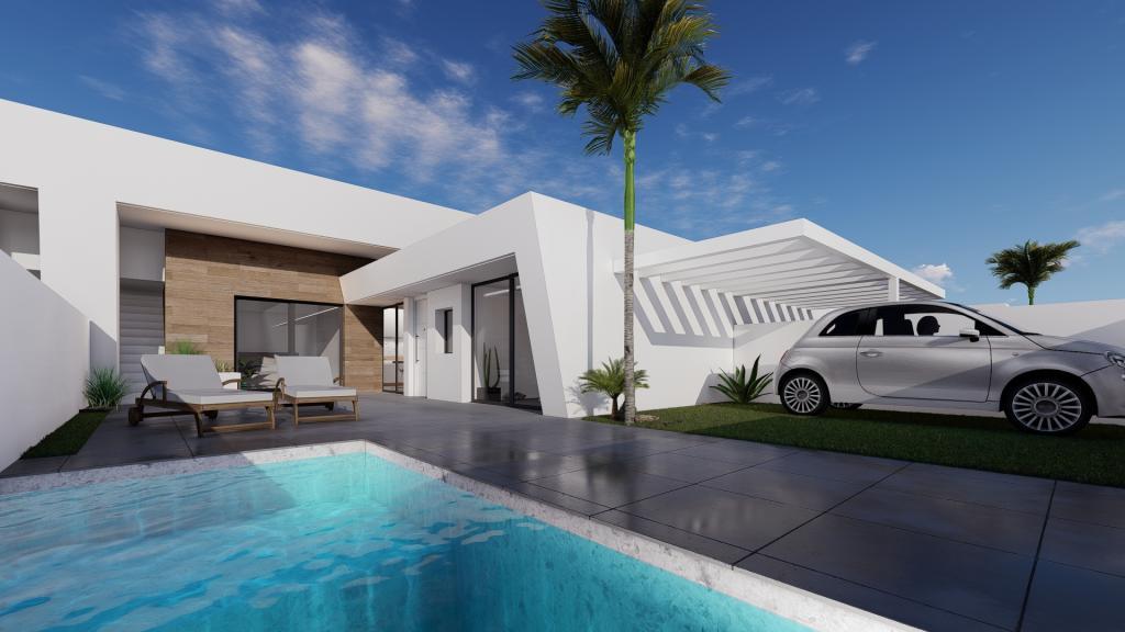 Stunning new 2 bedroom groundfloor villa project Murcia in Nieuwbouw Costa Blanca