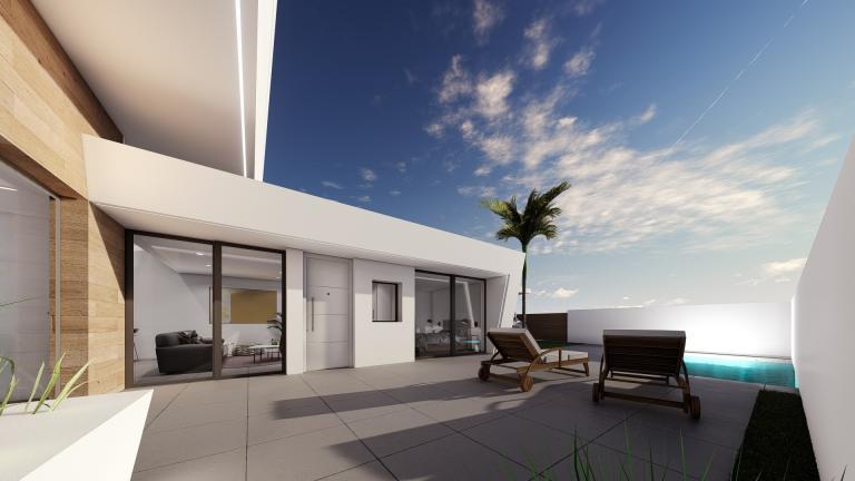 Stunning new 2 bedroom groundfloor villa project Murcia Nieuwbouw Costa Blanca