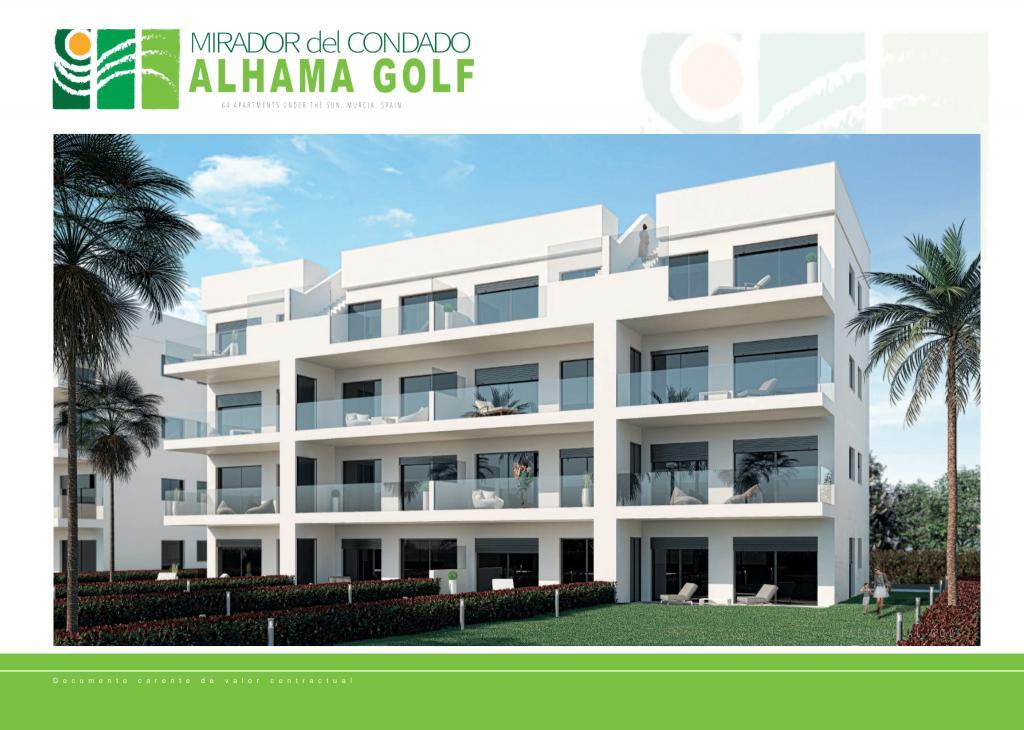 New apartments in golf resort Alhama Golf, Murcia in Nieuwbouw Costa Blanca