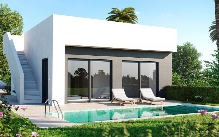 New villas 3 bedrooms 2 bathrooms GOLF - Murcia in Nieuwbouw Costa Blanca