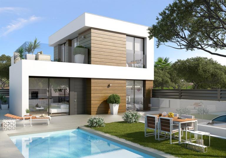 3 Bedroom 2 bathroom villas close to the beaches in Nieuwbouw Costa Blanca