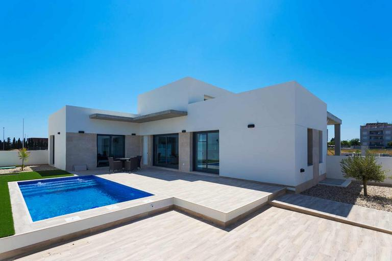 3 Bedroom new villas with pool in Daya Nueva in Nieuwbouw Costa Blanca