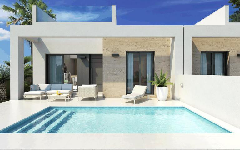 Compact holiday villas - bungalows with private pool in Nieuwbouw Costa Blanca
